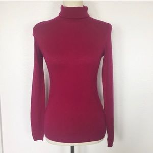 Ann Taylor Turtleneck Sweater Red Size XS